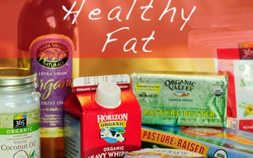 photo of foods with healthy fat