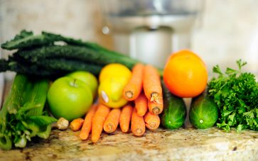 photo of fruits and vegetables for juicing
