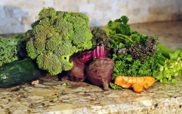 photo of vegetables on countertop - proper vegetable storage makes them last longer
