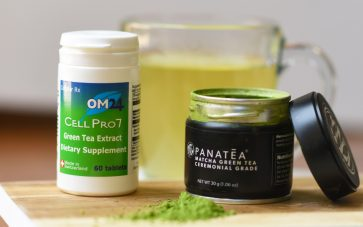 photo of matcha green tea and green tea extract that you can drink to quit coffee