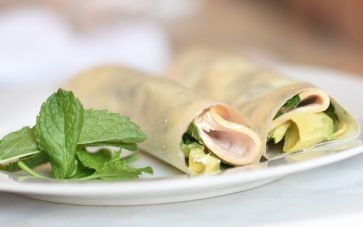 photo of Paleo Coconut Chicken Mint Avocado Wraps