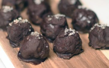 photo of Dark Chocolate Caramel Salted Bon Bons