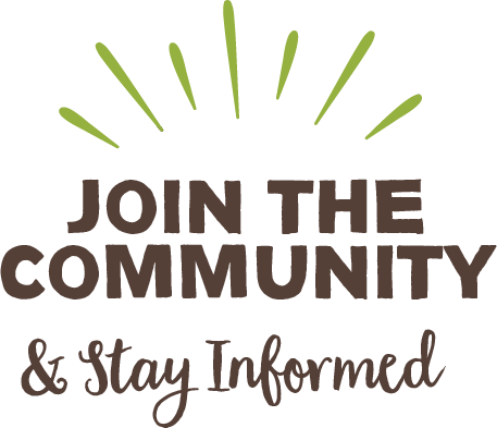 word graphic: Join the Community & Stay Informed