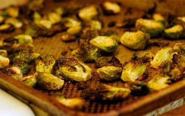 photo of burnt brussels sprouts